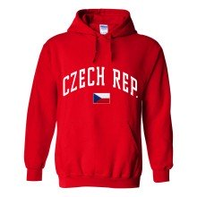 Czech Republic MyCountry Pullover Arch Hoodie (Red)