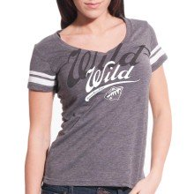 Minnesota Wild Women's Double Take Script V FX T-Shirt