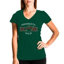 Minnesota Wild Women's Little Arch FX V-Neck T-Shirt