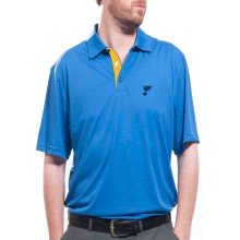 St. Louis Blues Shadow Text Evolve Polo