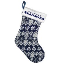 Seattle Seahawks 17 inch Aztec Christmas Stocking