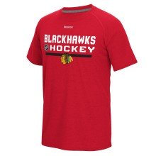 Chicago Blackhawks Authentic Center Ice Locker Room Supremium T-Shirt (Heather Red)