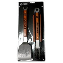 Chicago Blackhawks 3 Piece Barbecue Tool Set