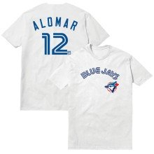 Toronto Blue Jays Roberto Alomar Cooperstown Player Name & Number T-Shirt (White)