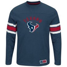 Houston Texans NFL Power Hit Long Sleeve T-Shirt With Felt Applique