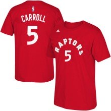 Toronto Raptors DeMarre Carroll NBA Name & Number T-Shirt - Red