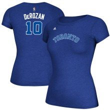 Toronto Huskies DeMar DeRozan NBA Women's Name & Number T-Shirt - Heather Blue