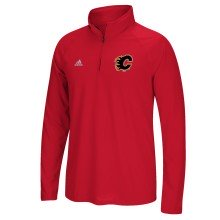 Calgary Flames Adidas NHL Left Defenseman 1/4 Zip Pullover