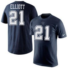 Dallas Cowboys Ezekiel Elliott NFL Player Pride Name and Number T-Shirt