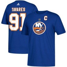 New York Islanders John Tavares Adidas NHL Silver Player Name & Number T-Shirt