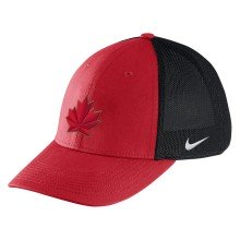 Team Canada IIHF Aero Swooshflex Cap 2018 Olympic Logo - Red | Adjustable