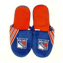 New York Rangers NHL Men's Big Logo Slipper