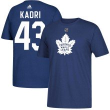 Toronto Maple Leafs Nazem Kadri Adidas NHL Silver Player Name & Number T-Shirt