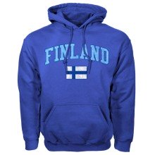 Finland MyCountry Vintage Pullover Hoodie (Royal)