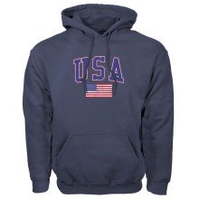 USA MyCountry Vintage Pullover Hoodie (Navy)