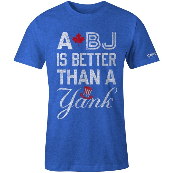 Chirp! A BJ Is Better Than A Yank T-Shirt (Royal Heather)