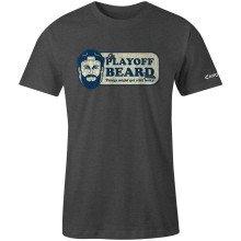 Chirp! Playoff Beard T-Shirt (Charcoal Heather)