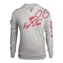 Detroit Red Wings Women's L'il Lefty FX Long Sleeve Hoodie (Off White)