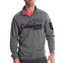 Montreal Canadiens Tried And True FX Full Zip Crew (Heather Charcoal)
