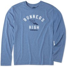 Life is Good Men's Runners High Cool Long Sleeve Tee