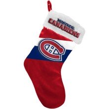 Montreal Canadiens NHL 17 inch Color Block Christmas Stocking