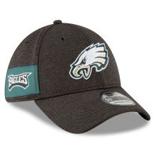 Philadelphia Eagles New Era 2018 NFL On Field Home 39THIRTY Cap (Alternate Color Black)