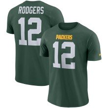 Green Bay Packers Aaron Rodgers NFL Nike Player Pride 3.0 Name and Number DRI-FIT T-Shirt