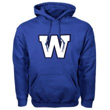Winnipeg Blue Bombers CFL Twill Logo Hoody (Royal)