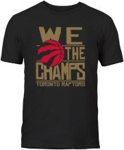 Toronto Raptors YOUTH Bulletin 2019 We The Champs T-Shirt (Black)