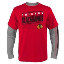 Chicago Blackhawks NHL YOUTH 2 in 1 Combo Pack Long Sleeve T-Shirt