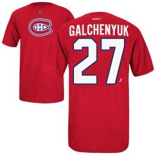 Montreal Canadiens Alex Galchenyuk Reebok NHL Player Name & Number T-Shirt