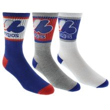 Montreal Expos MLB Men's 3-Pack Crew Sport Socks