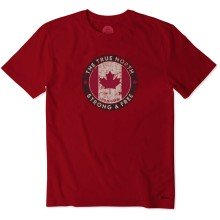 Life is Good Men's Canada Strong Free Crusher Tee
