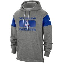 New England Patriots NFL Nike Heathered Gray Historic Hoodie