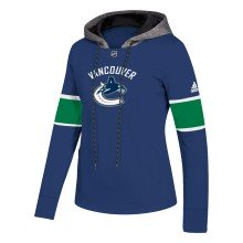 Vancouver Canucks adidas NHL Women's Platinum Crewdie Pullover Hood