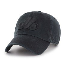 Montreal Expos MLB Black on Black '47 Clean Up Cap | Adjustable