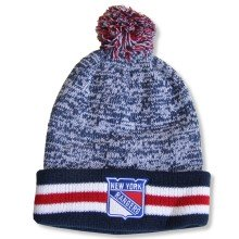 New York Rangers NHL Granite Cuff Pom Knit Hat