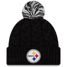 Pittsburgh Steelers Women's NFL Cozy Cable Knit Cuff Pom Hat