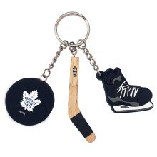 Toronto Maple Leafs NHL Stick-Puck-Skate Keychain