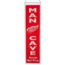 Detroit Red Wings NHL MAN CAVE Wool Banner