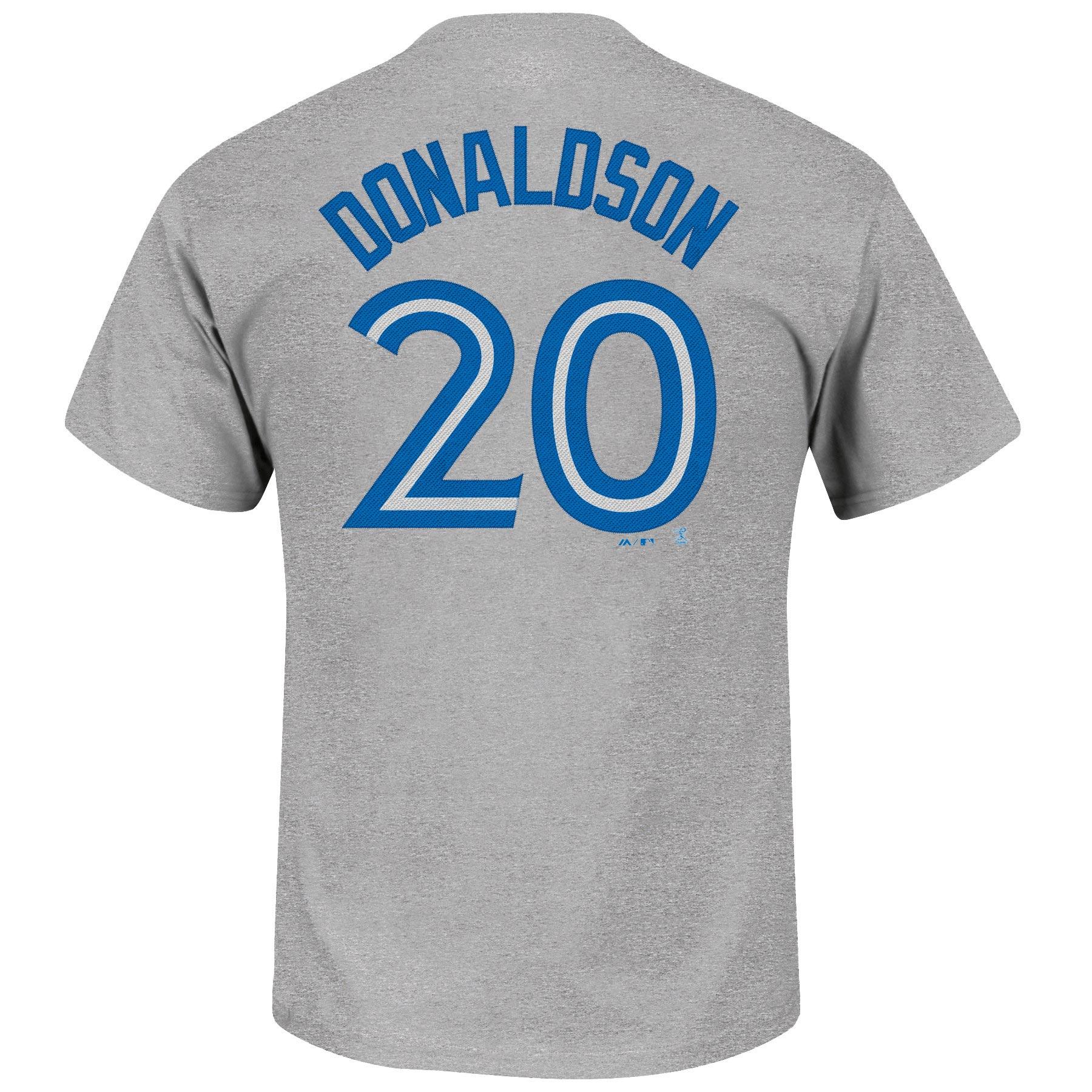 purchase cheap 4656a fc97e Toronto Blue Jays Josh Donaldson MLB Player Name & Number Road T-Shirt  (Gray)