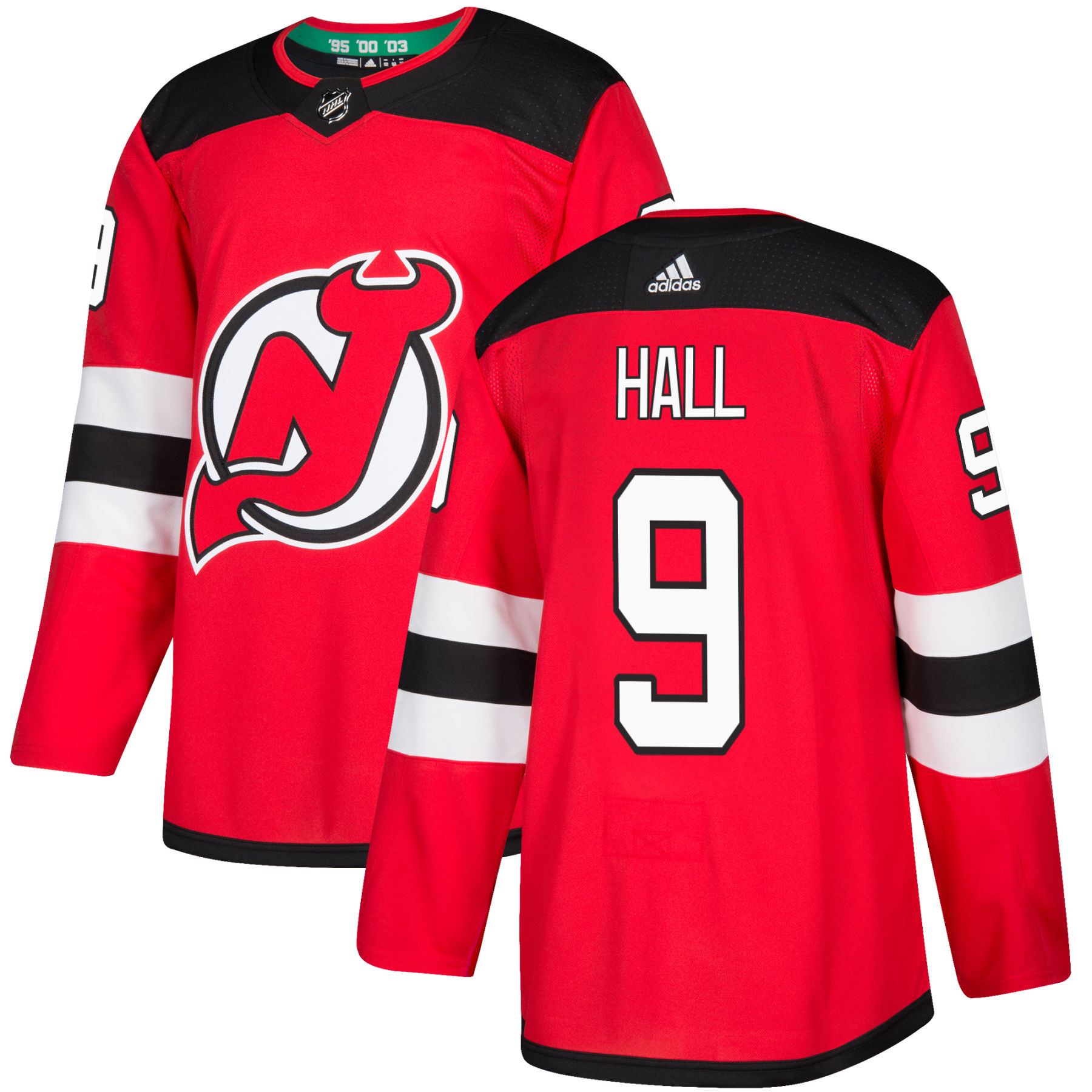 low priced 0eea4 d43e5 Taylor Hall New Jersey - Pro Stitched Devils adidas NHL Authentic Pro Home  Jersey - Pro Stitched