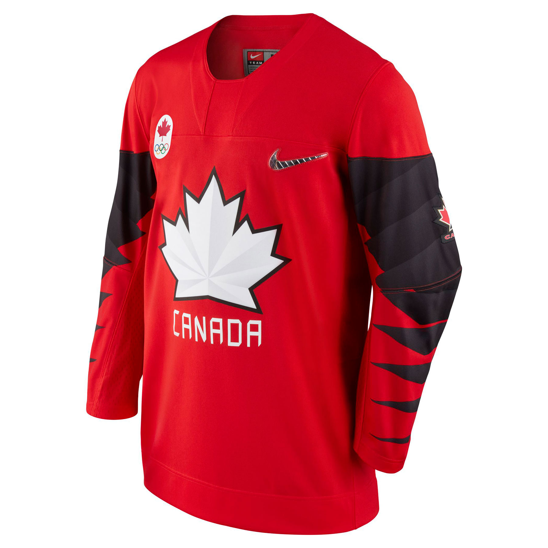buy popular b62b2 a2f10 Team Canada IIHF Official 2018 Nike Olympic Replica Red Hockey Jersey