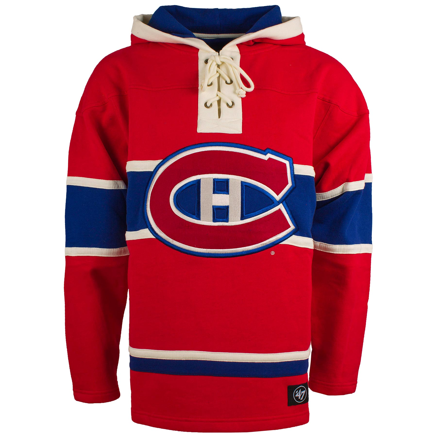 N44852_XL Montreal Canadiens NHL '47 Heavyweight Jersey Lacer Hoodie - Cotton/Polyester Blend - Size Small - IceJerseys NHL Sweatshirts & Hoodies Teamware / Logo