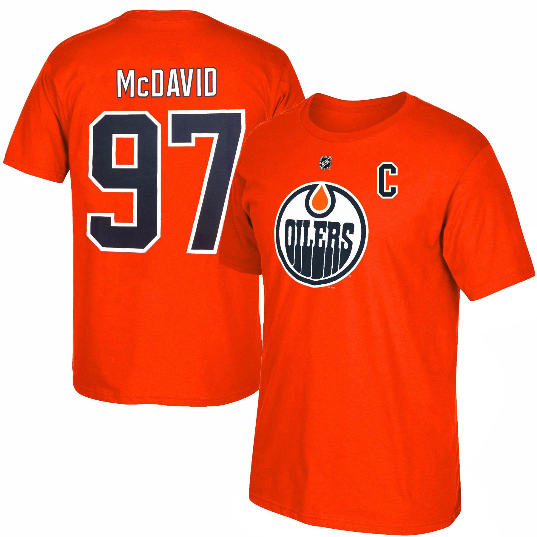 online retailer 4bb2a 47ff0 Edmonton Oilers Connor McDavid NHL YOUTH Player Name & Number T-Shirt