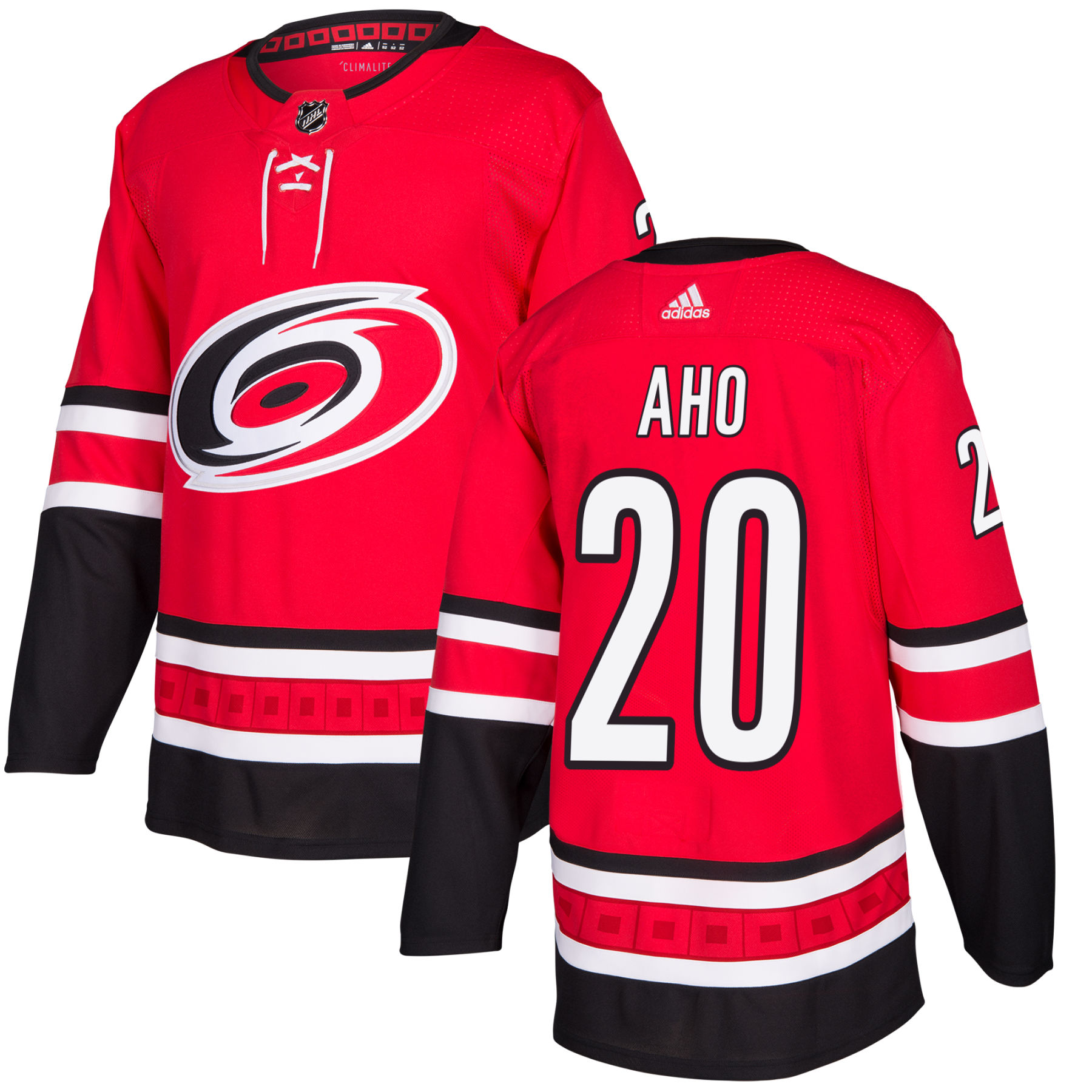 reputable site d8bf2 12cb8 Sebastian Aho Carolina Hurricanes adidas NHL Authentic Pro Home Jersey -  Pro Stitched
