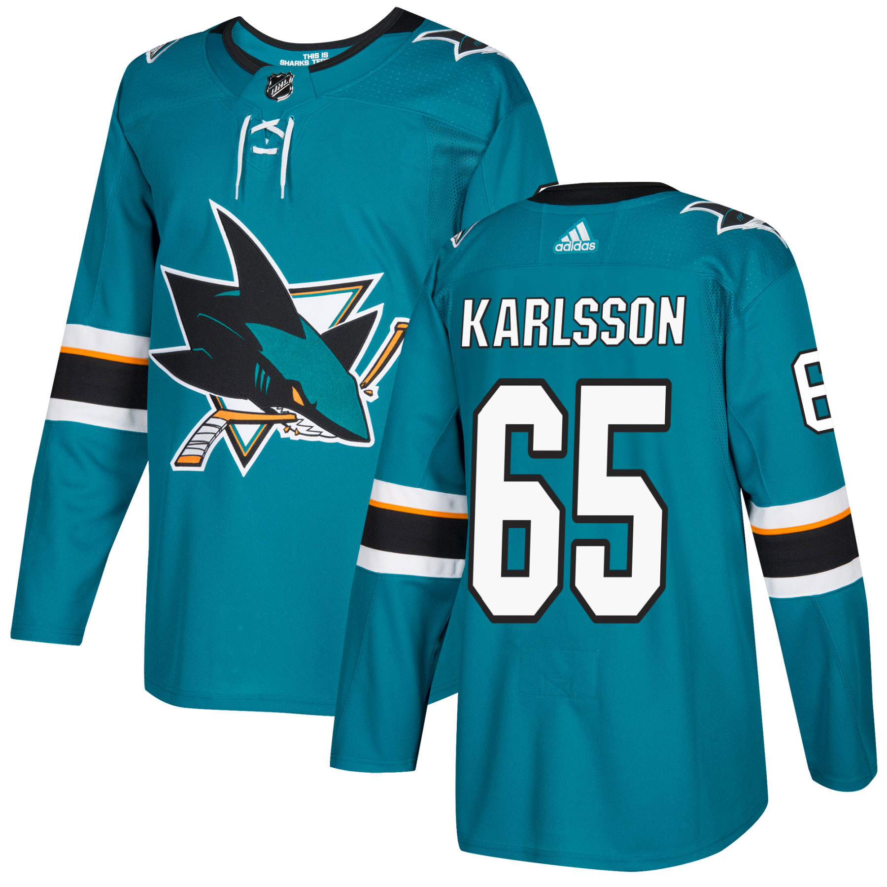 info for 67958 5113b Erik Karlsson San Jose Sharks adidas NHL Authentic Pro Home Jersey - Pro  Stitched