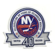New York Islanders 40th Anniversary Embroidered Patch
