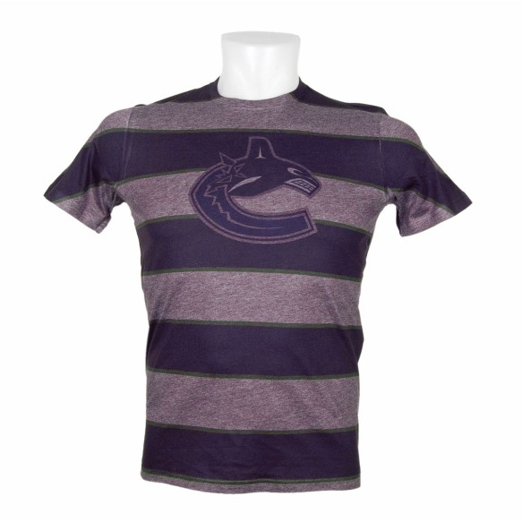 Vancouver Canucks Three Color Stripe FX Tee