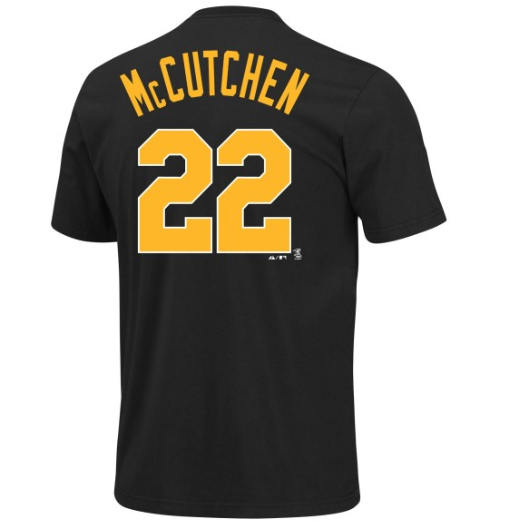 Pittsburgh Pirates Andrew McCutchen Retro MLB Player Name & Number T-Shirt